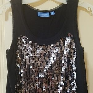 Simply Vera Wang Sequin Tank Size S